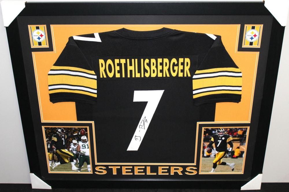 645f3e77178 Image 1   Ben Roethlisberger Signed Steelers 35x43 Custom Framed Jersey  (JSA COA) ...
