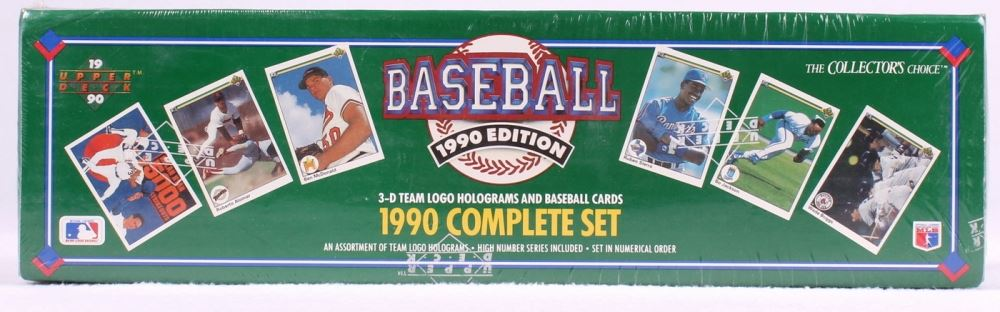 1990 Upper Deck Complete Set Of 800 Baseball Cards With 17