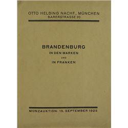 The Ernst von Wasserschleben Coins of Brandenburg