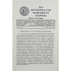 The Metropolitan Numismatic Journal