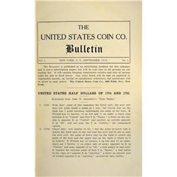 Rare Special Edition US Coin Co. Bulletin