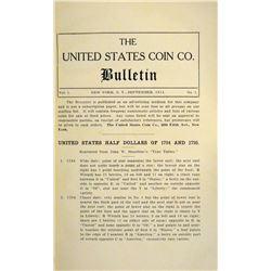 Rare Special Edition US Coin Co. Bulletin