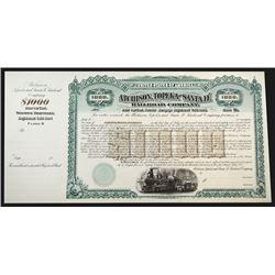 Atchinson, Topeka and Santa Fe Railroad Co., 1892 Proof Bond.