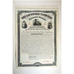 Louisville and Nashville  Railroad Co., St.Louis Division, 1881 Specimen Bond.