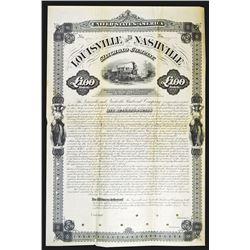 Louisville and Nashville Railroad Co., 1880 Specimen Bond Rarity.