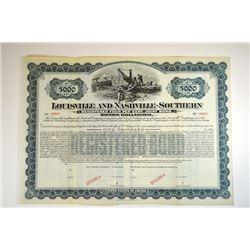 Louisville and Nashville-Southern Railroad Co., Monon Collateral, 1902 Specimen Bond.