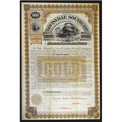 Louisville Southern Railroad Co., 1887 Specimen Bond.