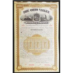 Ohio Valley Railway Co. 1888 Specimen Bond.