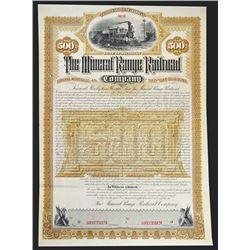 Mineral Range Railroad Co., 1886 Specimen Bond.