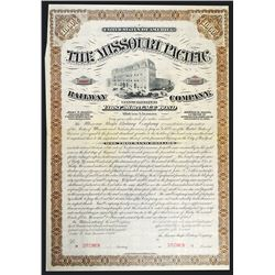 Missouri Pacific Railway Co., 1880 Specimen Bond.