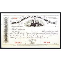 Niagara Falls International Bridge Co., ca. 1900 Specimen Stock Certificate.