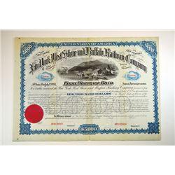 New York, West Shore and Buffalo Railway Co. 1881 Specimen Bond.