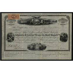 Atlantic & Great Western Rail Road Co., Issued Stock.