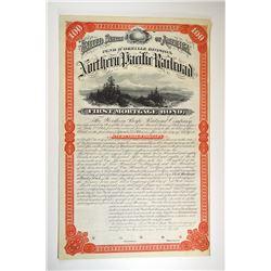 Northern Pacific Railroad Company, Pend D'Oreille Division 1879 Specimen Bond.