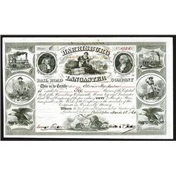 Portsmouth, Harrisburg, Mount Joy and Lancaster Rail Road Company, 1861 Stock Certificate.