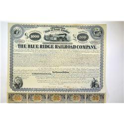 Blue Ridge Railroad Co., 1869.