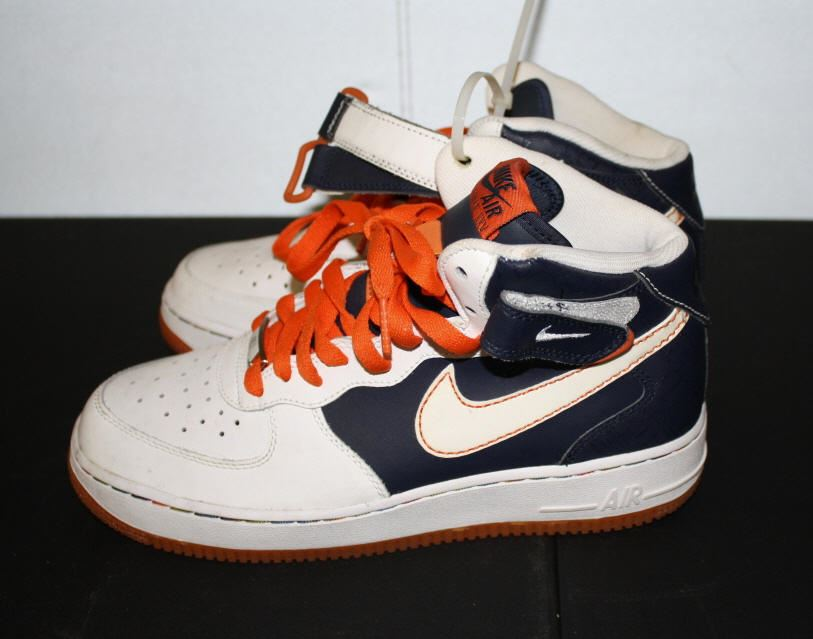 Orange Blue And White Air Force One Nike's