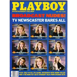 VINTAGE JULY 1989 PLAYBOY MAGAZINE - BROADCAST NUDES