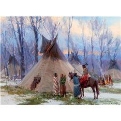 Winter Camp on the Big Horn