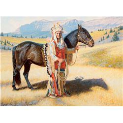 White Quiver-Blackfeet Horse Raider