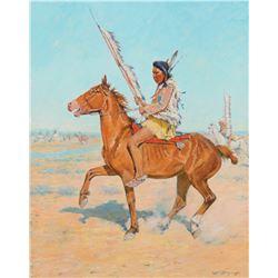 Mounted Indian Warrior