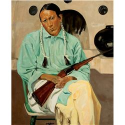 Frank Archuleta,Taos Indian with Rifle