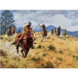 A Narrow Escape - The Pony Express, 1861