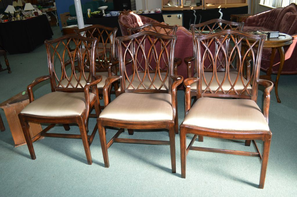 Six George Iii Replica Dining Chairs By Theodore Alexander With
