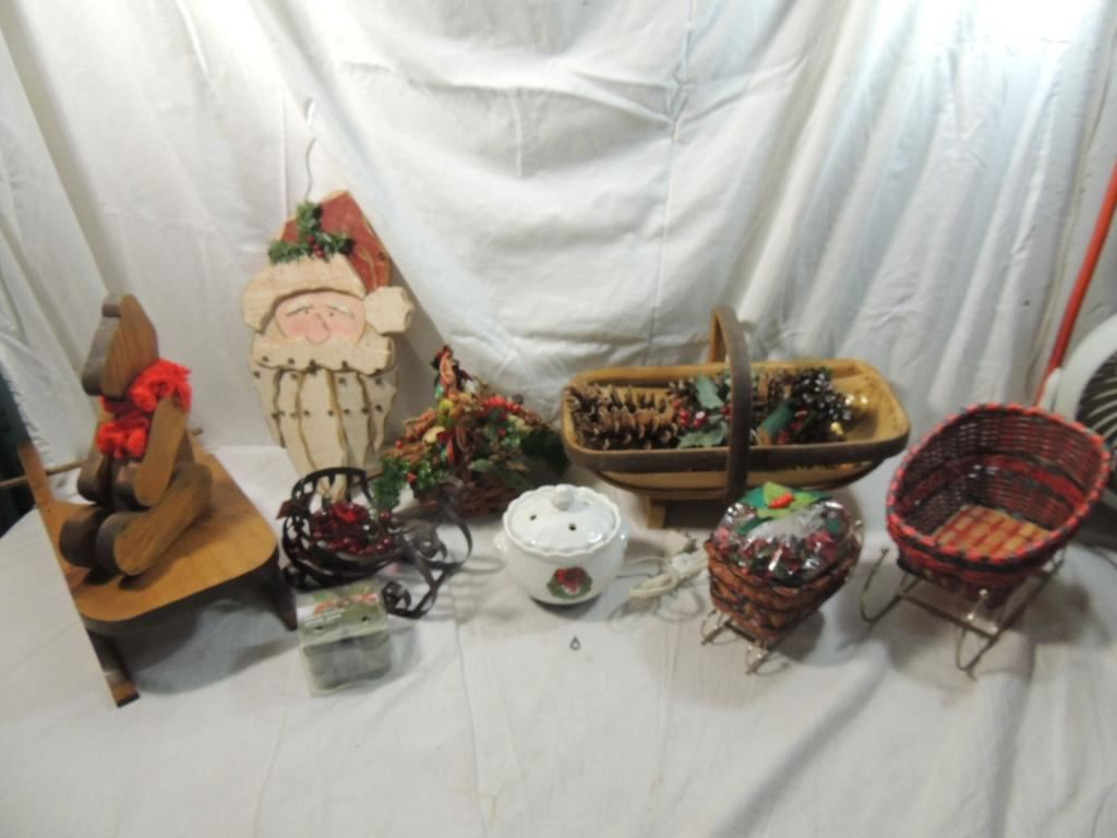 Large Box Lot Rustic Christmas Decor