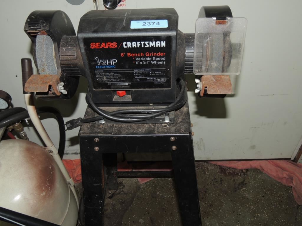 Admirable Sears Craftsman 6 Bench Grinder On Stand Evergreenethics Interior Chair Design Evergreenethicsorg