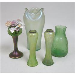 5 Art Glass Vases