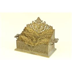 Victorian Bronze Figural Letter Rack