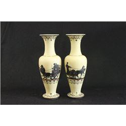 Pair Bristol Glass Vases