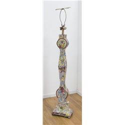 20th Century Italian Style Mosaic Floor Lamp