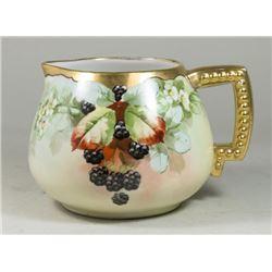 Limoges Floral Pitcher