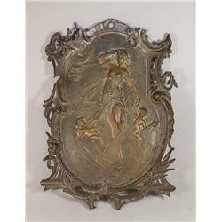 French Bronze Plaque