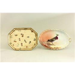 2 Limoges and Royal Worcester  Porcelain Trays