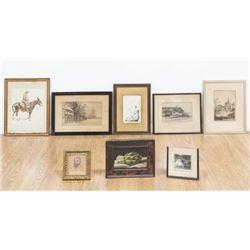 Group Lot of Drawings, Paintings, & Prints