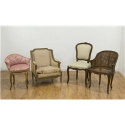 Group of 4 French Chairs