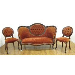 3 Piece Victorian Parlor Set
