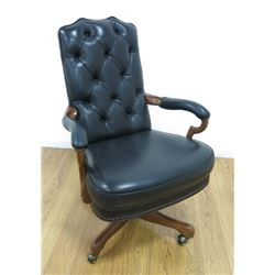 Queen Anne Style Mahogany Desk Chair
