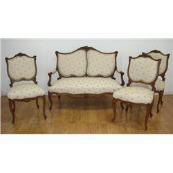 Louis XV style 4 piece salon set