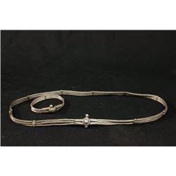 Silver Belt & Bracelet