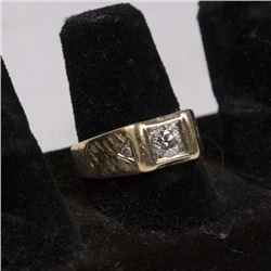 14K Gold & Diamond Men's Ring