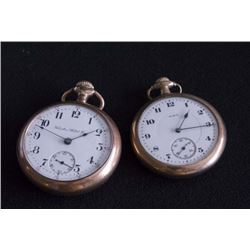 2 Open Face Gold Plated Pocket Watches