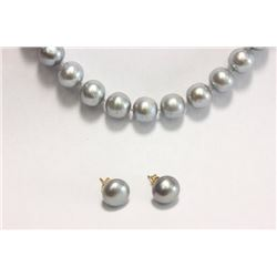 Tahitian Pearl Necklace & Matching Earrings