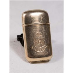 14K Gold Armorial Match Safe