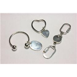 2 Tiffany Sterling Silver Keychains