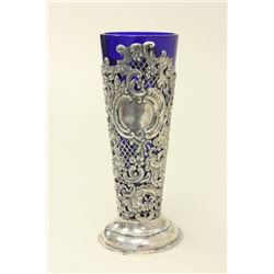 19th Century English Silver Reticulated Vase