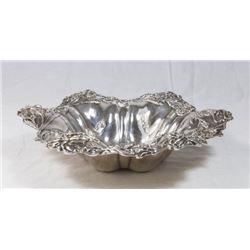 Art Nouveau Silver Floral Bowl